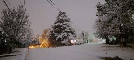 Diario Cañada - Nieve sobre Villa Carlos Paz